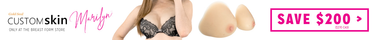 Gold Seal CustomSkin Marilyn attachable breast forms on sale at The Breast Form Store