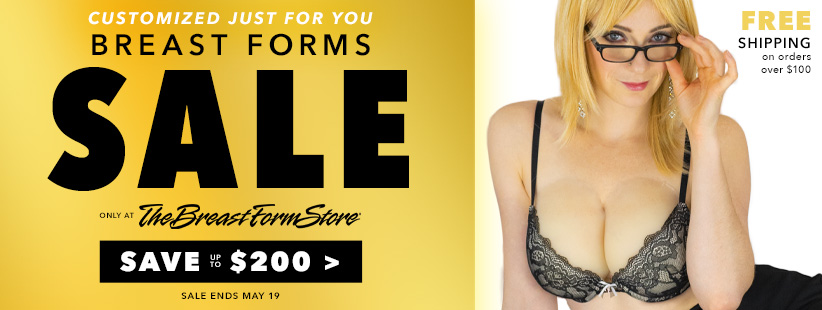 Real skin breast form sale at The Breast Form Store