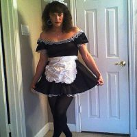 Sissy-crossdresser-french-maid-dress